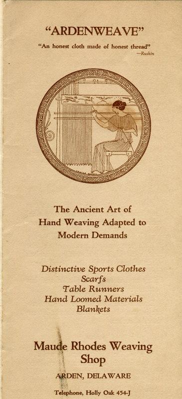 Ardenweave Brochure with Greek medallion