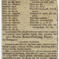 Ad for William Young, Bookseller and Stationer